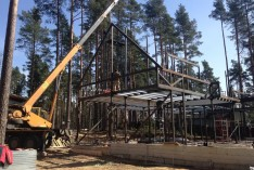 Изготовление и монтаж металлокаркаса частного дома
