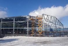 Строительство холодного  ангара