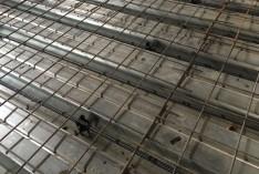 Заливка монолитной ж/б плиты перекрытия по профлисту