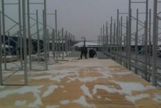 Строительство холодного временного навеса
